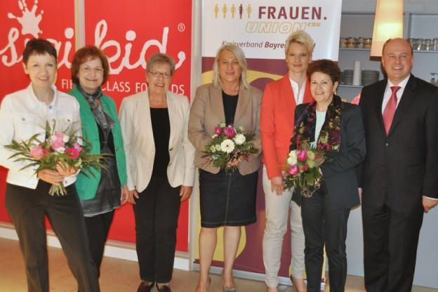 Bei den Neuwahlen der Frauenunion Bayreuth-Land wählten mich die Mitglieder zur stellvertretenden Kreisvorsitzenden v.l.n.r.: FU-Kreisvorsitzende Christa Reinert-Heinz und ihre Stellvertreterinnen Edeltraut Schweingel (Bindlach), Lissi Weigel (Goldkronach), Sabine Habla (Mistelbach) und Barbara Dierl (Speichersdorf), Gudrun Brendel-Fischer (MdL) und Hartmut Koschyk (MdB).
