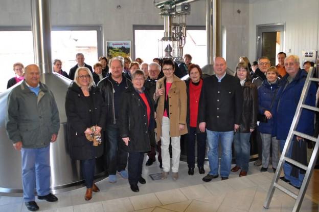 Besuch bei der Brauerei Krug in Breitenlesau