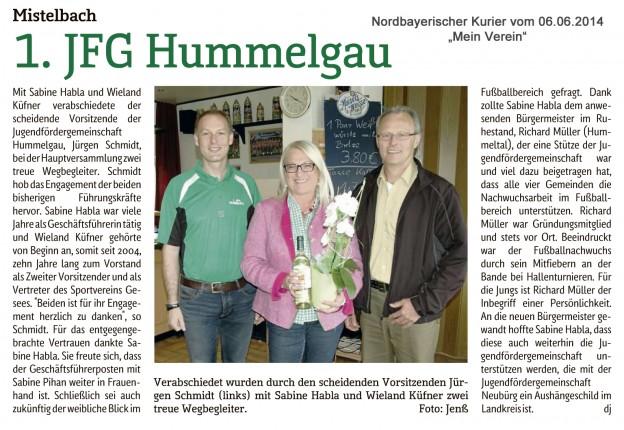Die 1. JFG Hummelgau sagt danke!