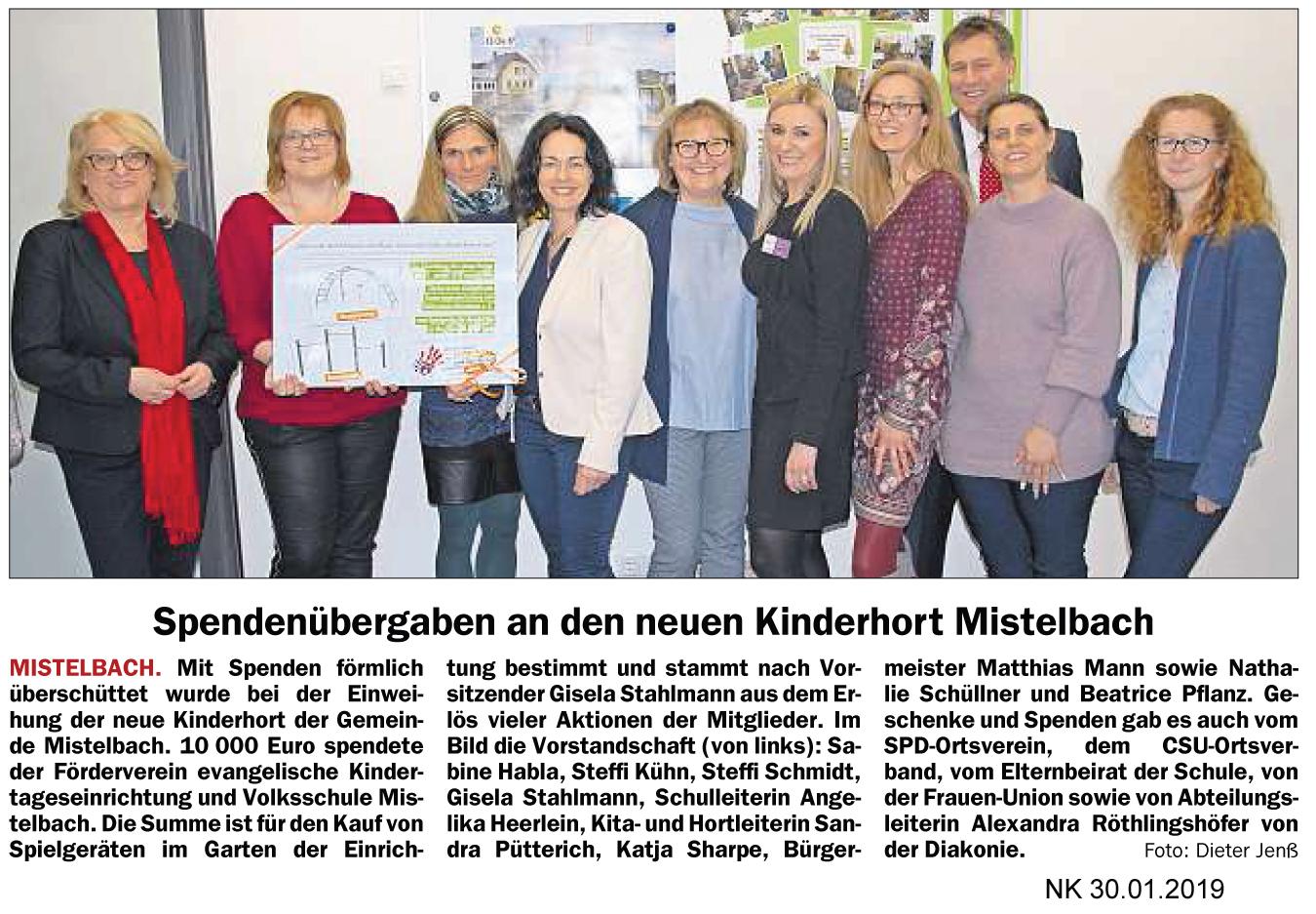 2019_001_Spendenubergaben an den neu en Kinderhort Mistelbach_NK_30.01