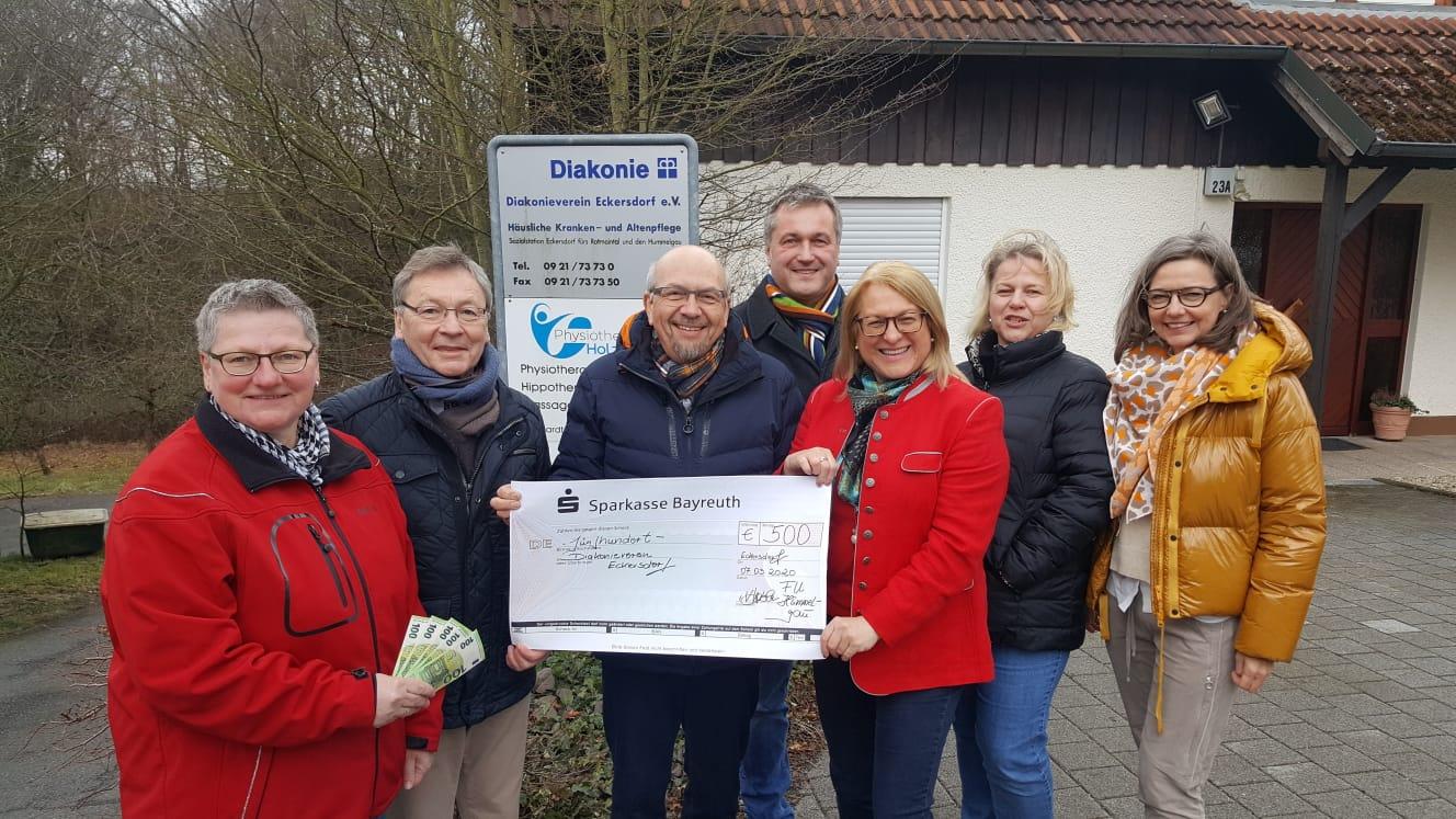 Spendenübergabe FU Hummelgau Diakonieverein 07.03.20 2